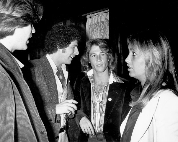 Jesse Cutler, Daryl Hall, Andy Gibb and Susan George