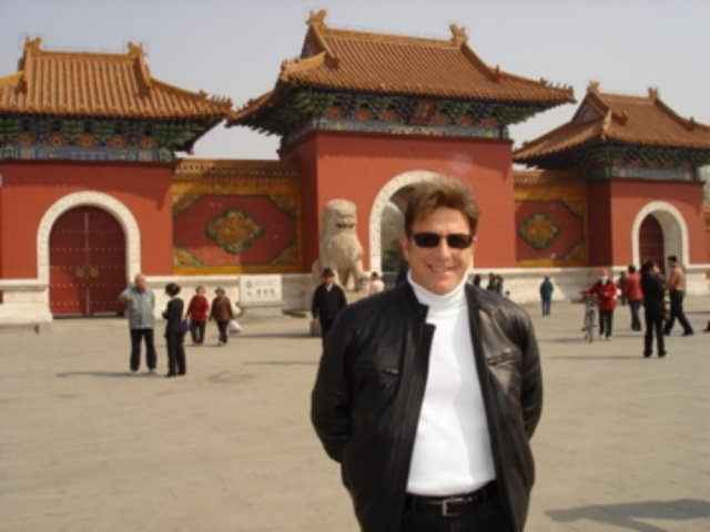 Jesse Cutler in Front of Forbidden Palace