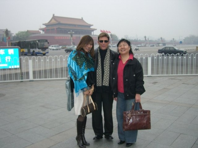Jesse Cutler and Shirley at the Forbidden Palace