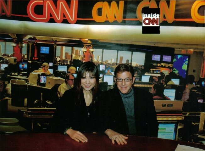 Jesse Cutler and Shirley Khouri at CNN