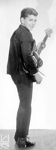 Lou London with Fender Jaguar Guitar