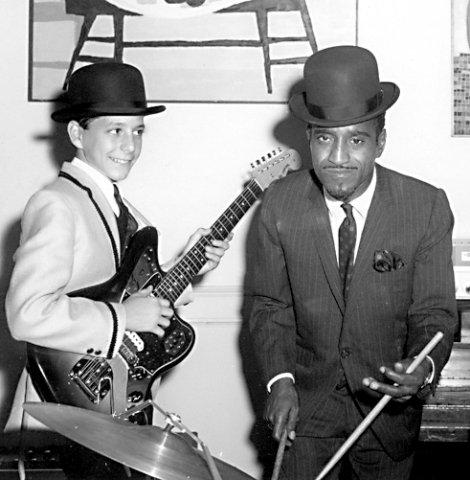 Sammy Davis Jr with Lou Gibaldi London